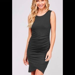 Tank dress with ruching